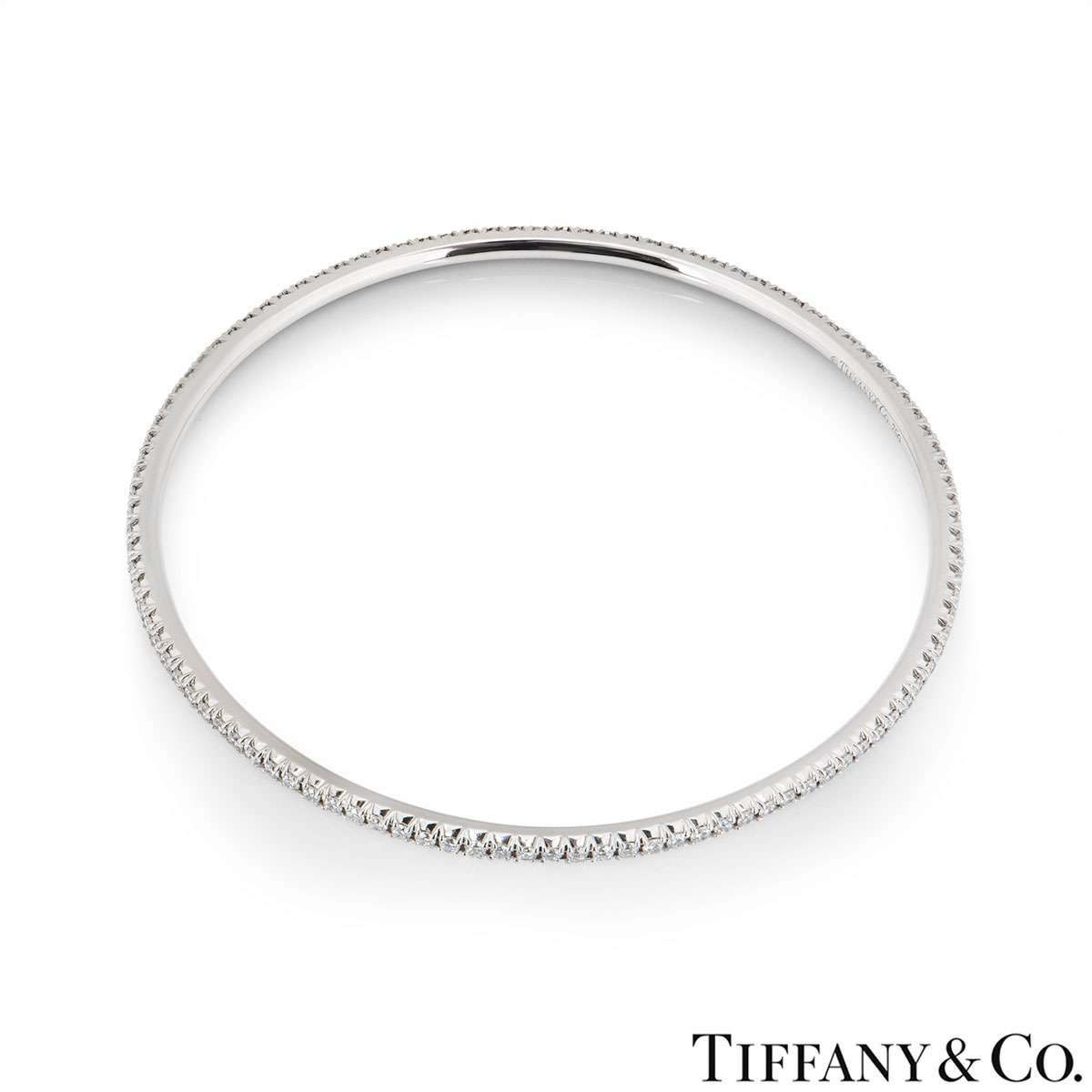 Tiffany & Co. White Gold Diamond Bangle